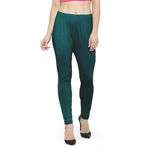 Refreshing Teal Green Colored Casual Wear Ankle Length Leggings