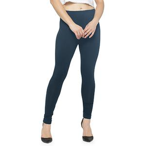 Arresting Gray Colored Casual Wear Ankle Length Leggings