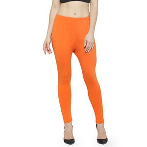 Precious Orange Colored Casual Wear Ankle Length Leggings