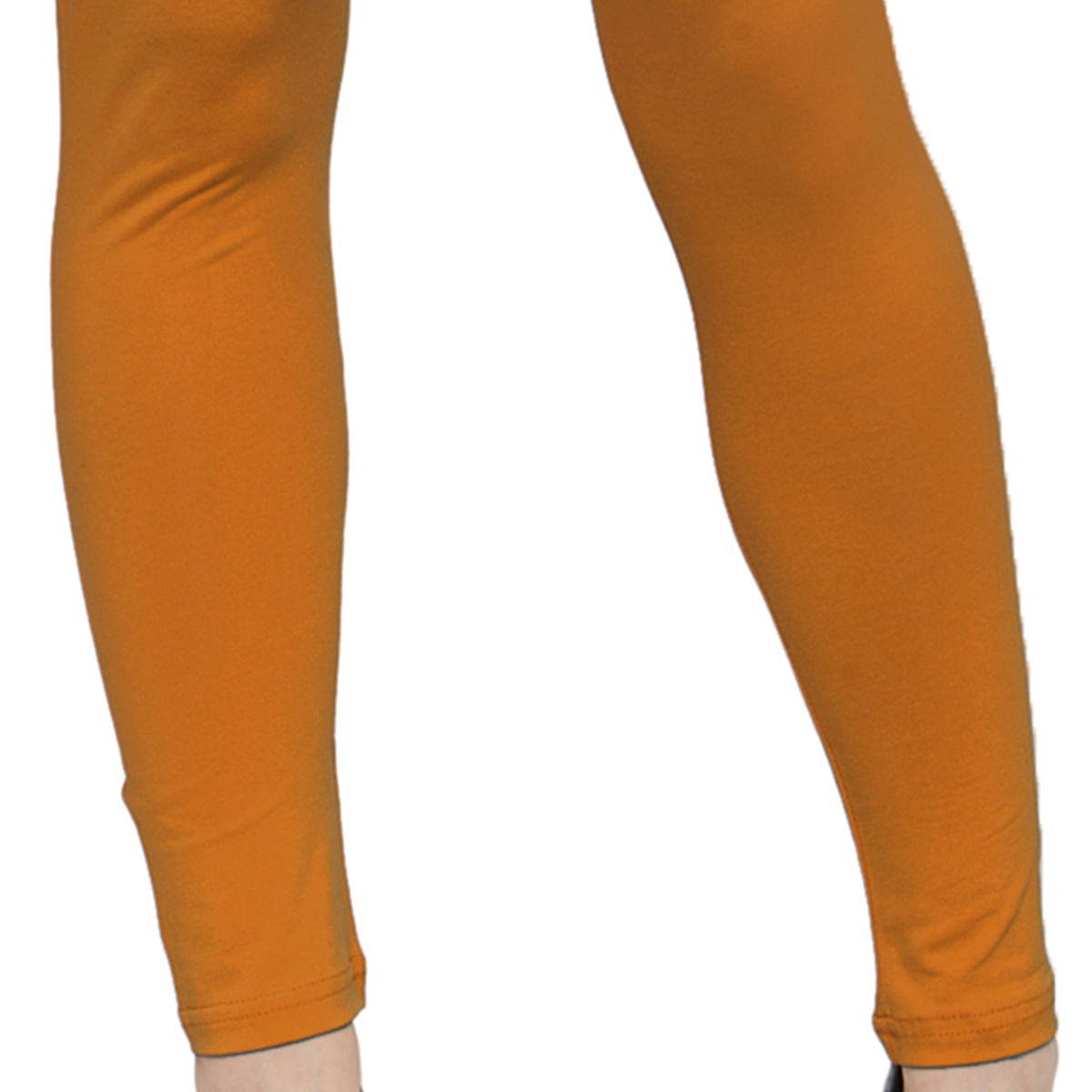 Preferable Rust Orange Colored Casual Wear Ankle Length Leggings