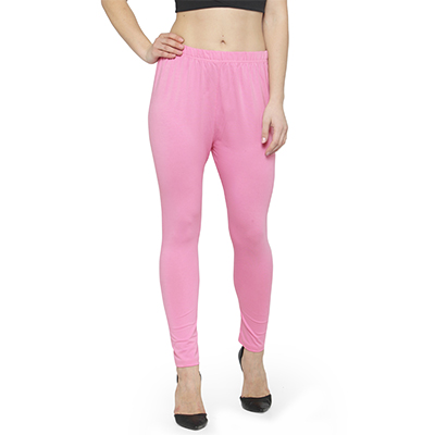 Lively Light Pink Colored Casual Wear Ankle Length Leggings