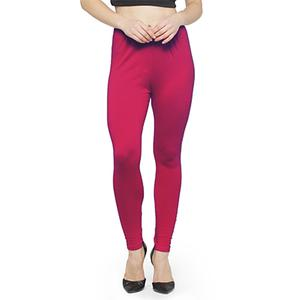 Blissful Deep Pink Colored Casual Wear Ankle Length Leggings