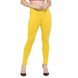 Perfect Yellow Colored Casual Wear Ankle Length Leggings