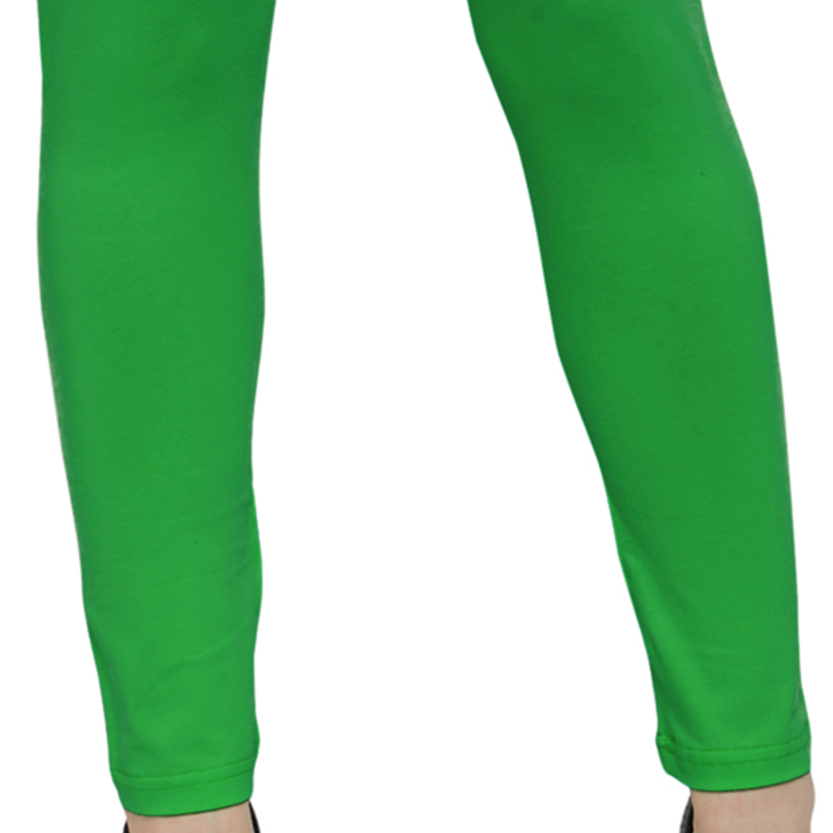 Absorbing Green Colored Casual Wear Ankle Length Leggings