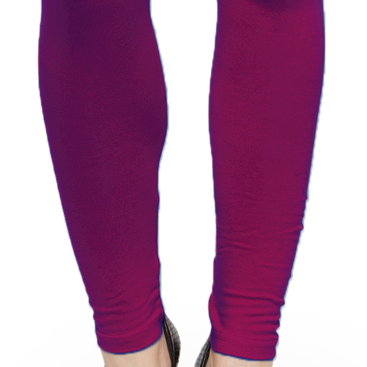 Lovable Magenta Colored Casual Wear Ankle Length Leggings