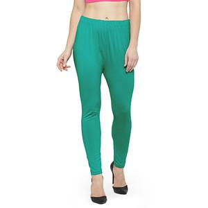 Appealing Turquoise Green Colored Casual Wear Ankle Length Leggings