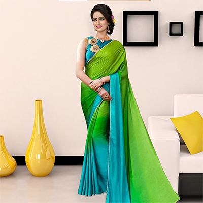 Lovely Green Art Silk Designer Saree