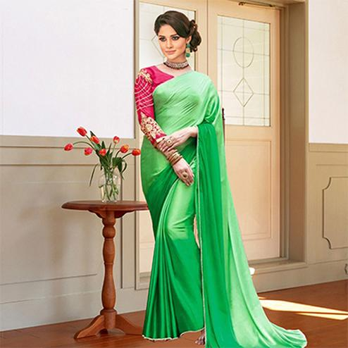Marvelous Green Art Silk Designer Saree