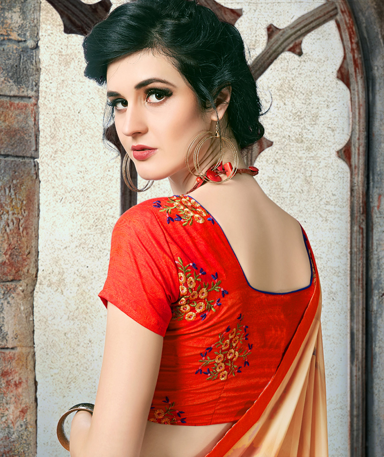 Mesmeric Multi Colored Casual Printed Georgette Saree
