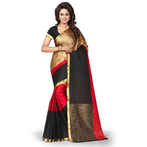 Majesty Multi Colored Festive Wear Cotton Silk Saree