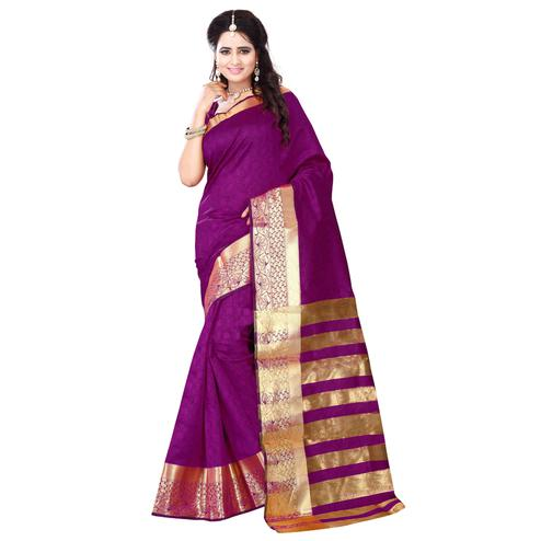 Starring Magenta Colored Festive Wear Art Silk Saree
