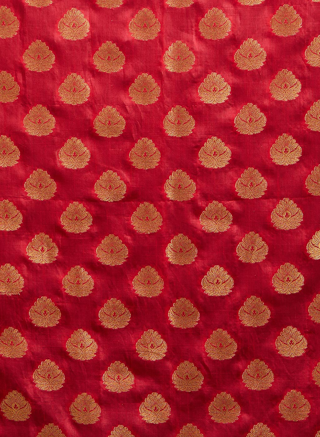 Radiant Red Colored Festive Wear Weaving Cotton Silk Saree