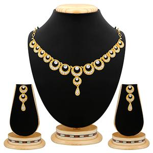Trendy Design Stone Gold Finishing Necklace Set