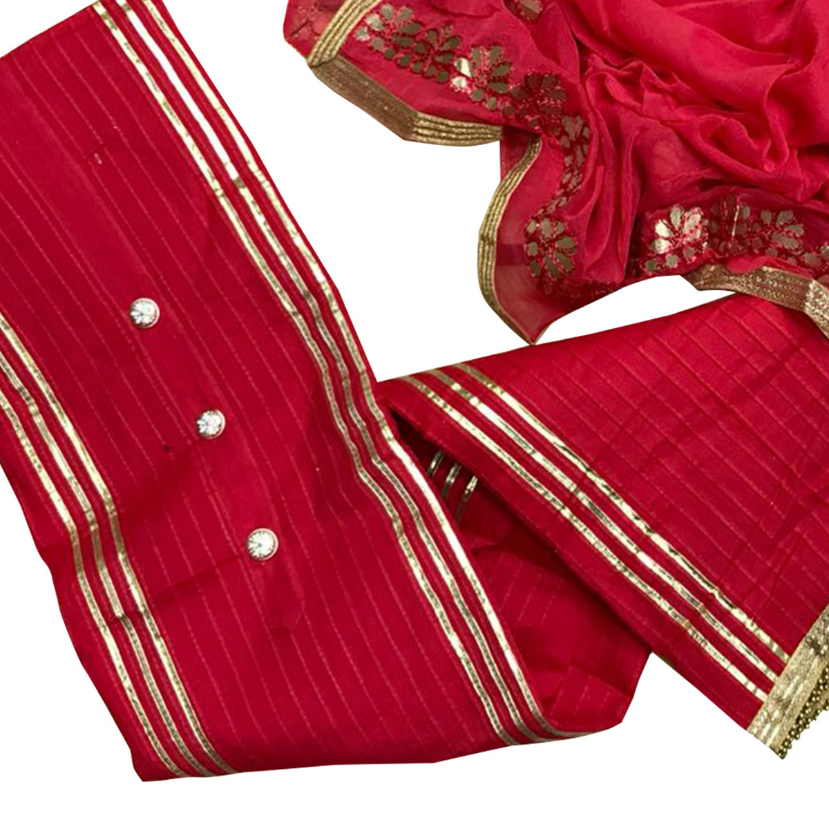 Graceful Rani Pink Colored Partywear Modal Suit
