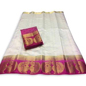 Deserving Off White Colored Festive Wear Cotton Silk Saree