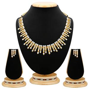 Ethnic Design Stone Gold Finishing Necklace Set