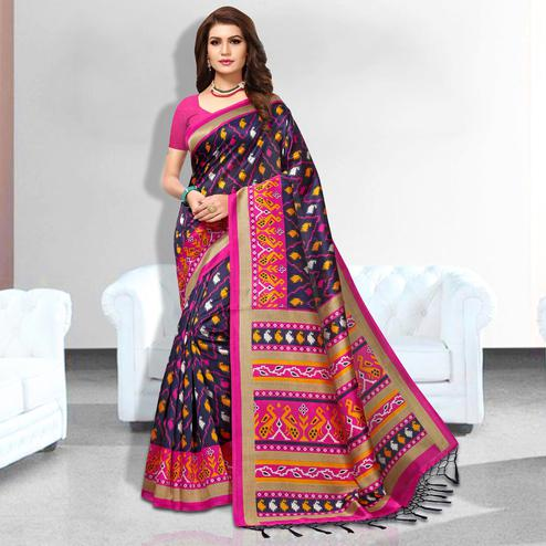 Promising Purple Colored Festive Wear Art Silk Saree