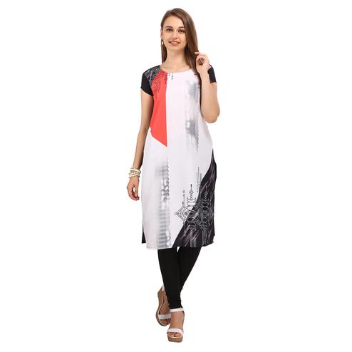 White - Black Casual Wear Kurti