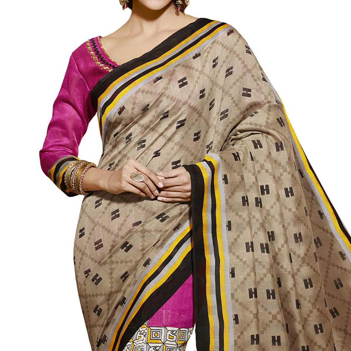 Multicolored Casual Wear Printed Saree