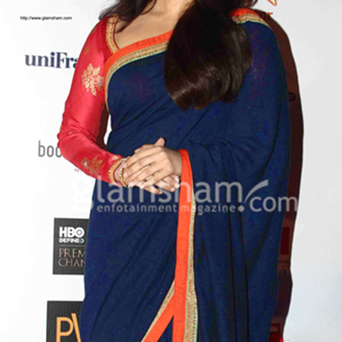 Aishwarya Rai Blue Craft Saree