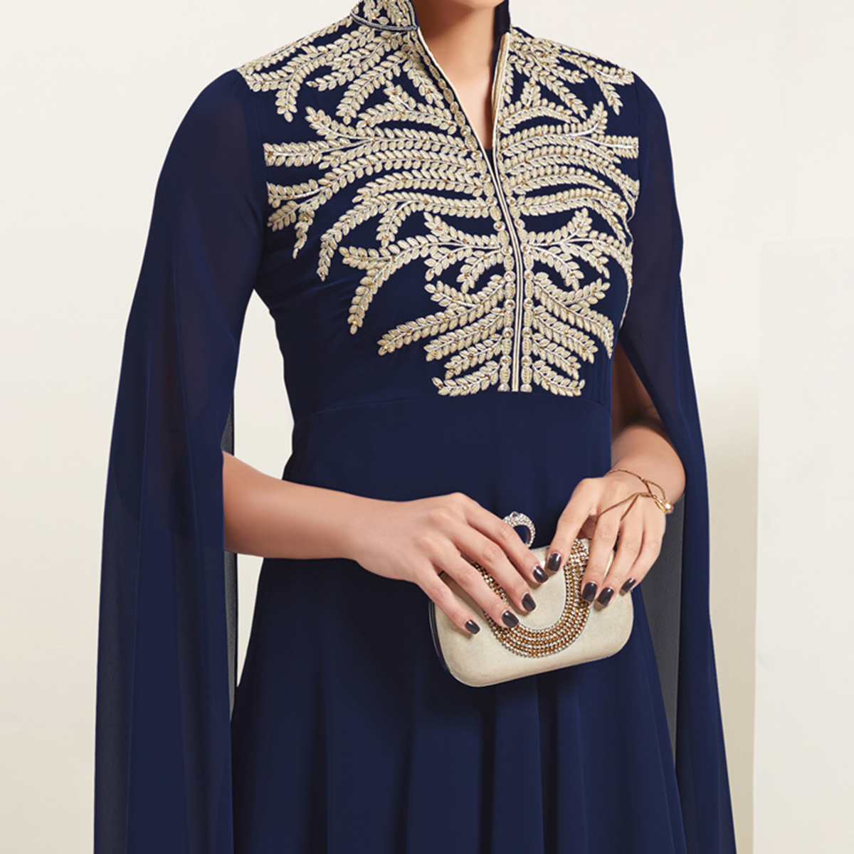 Blue Party Wear Georgette Kurti