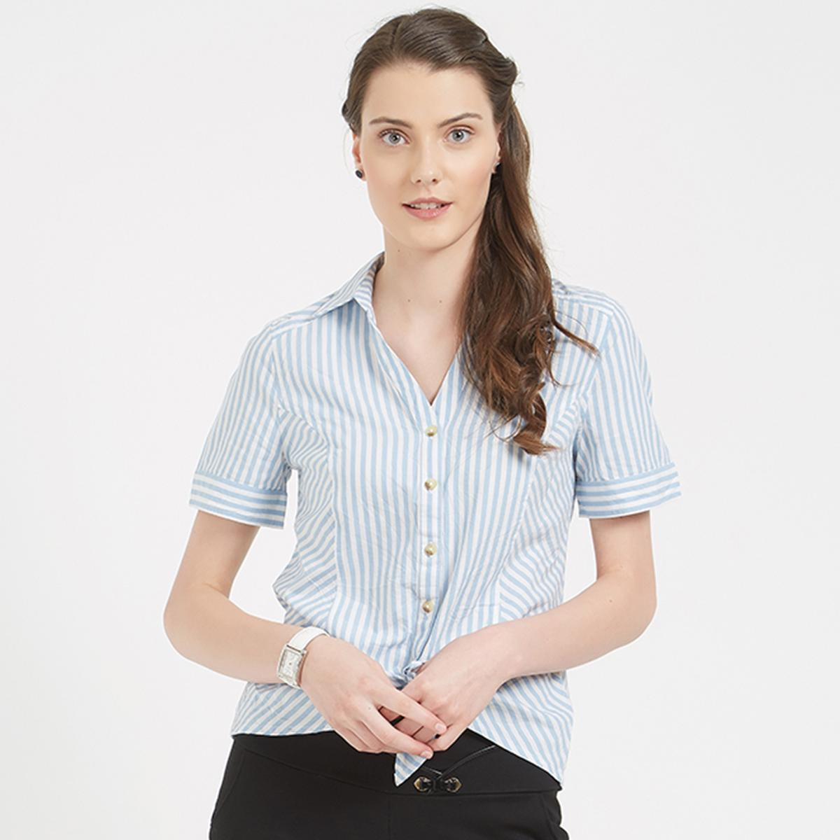 Classy White Colored Formal Wear Western Cotton Shirt