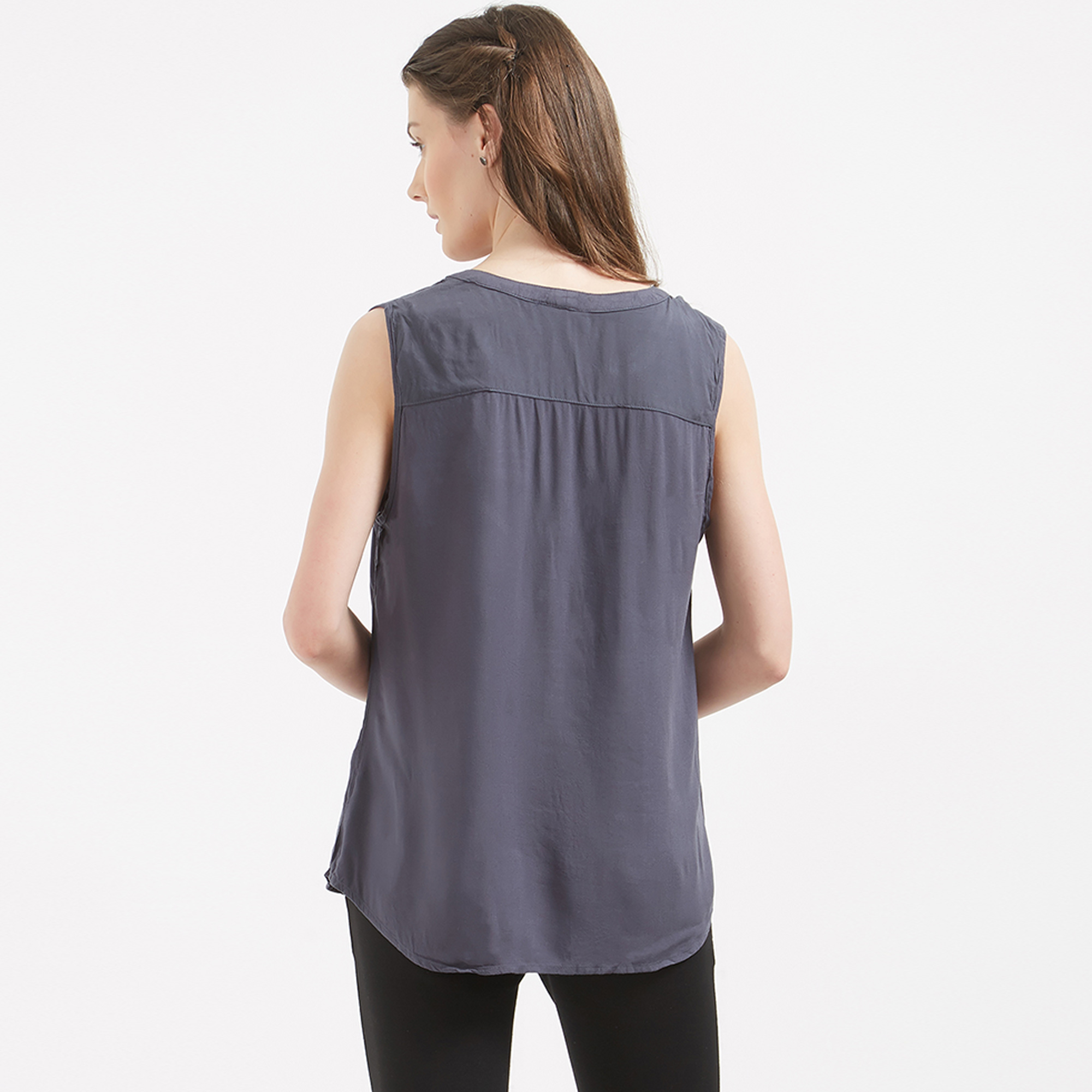Gorgeous Grey Colored Casual Western Cotton Top