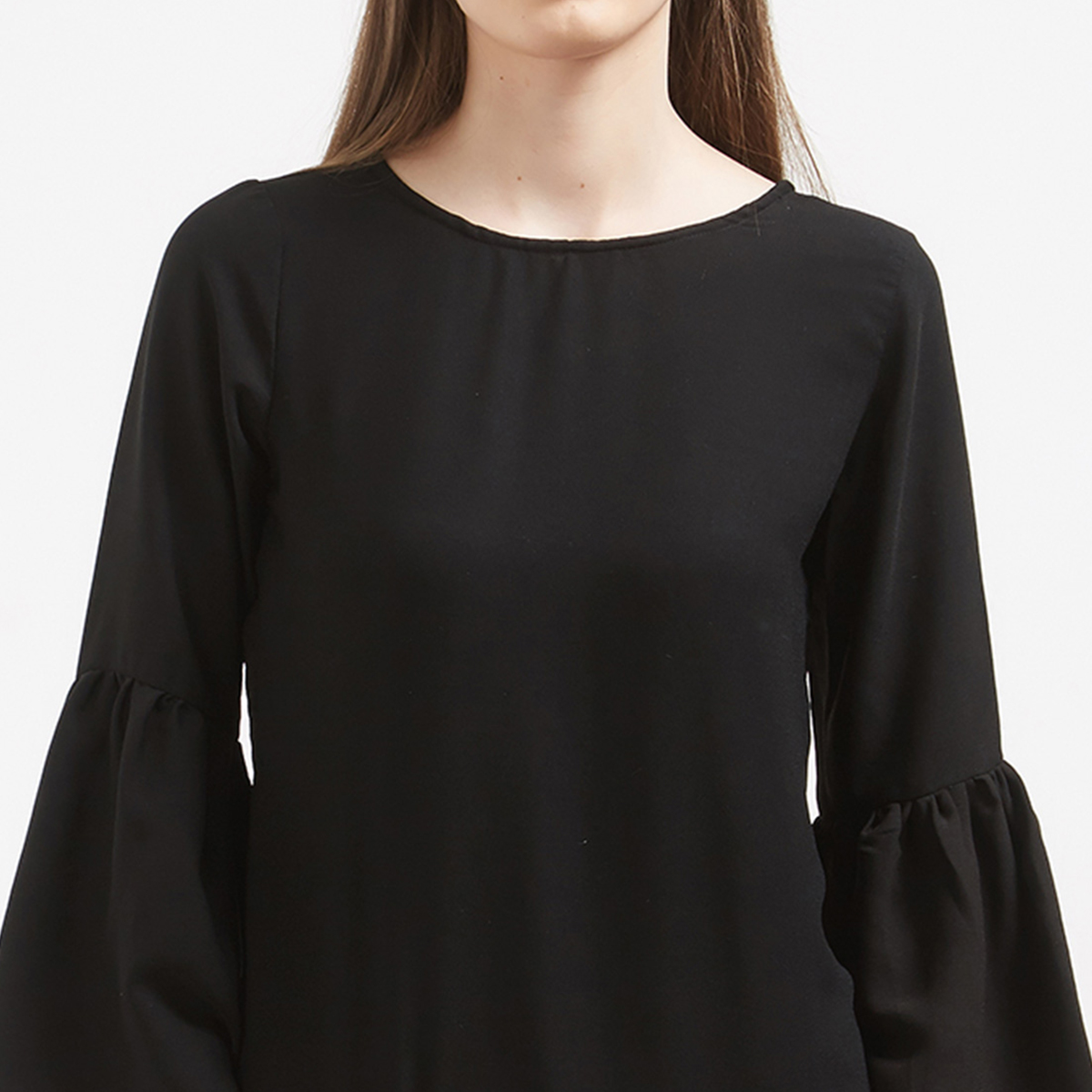 Amazing Black Colored Party Wear Heavy Crape Western Top