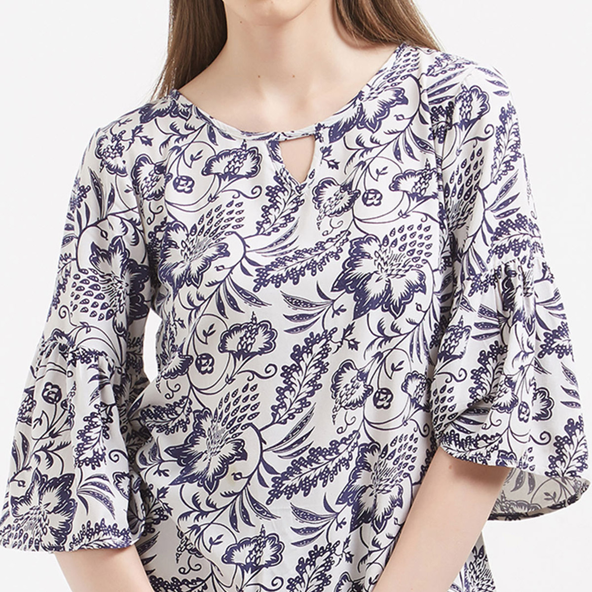 Elegant White Colored Printed Casual Wear Western Cotton Top