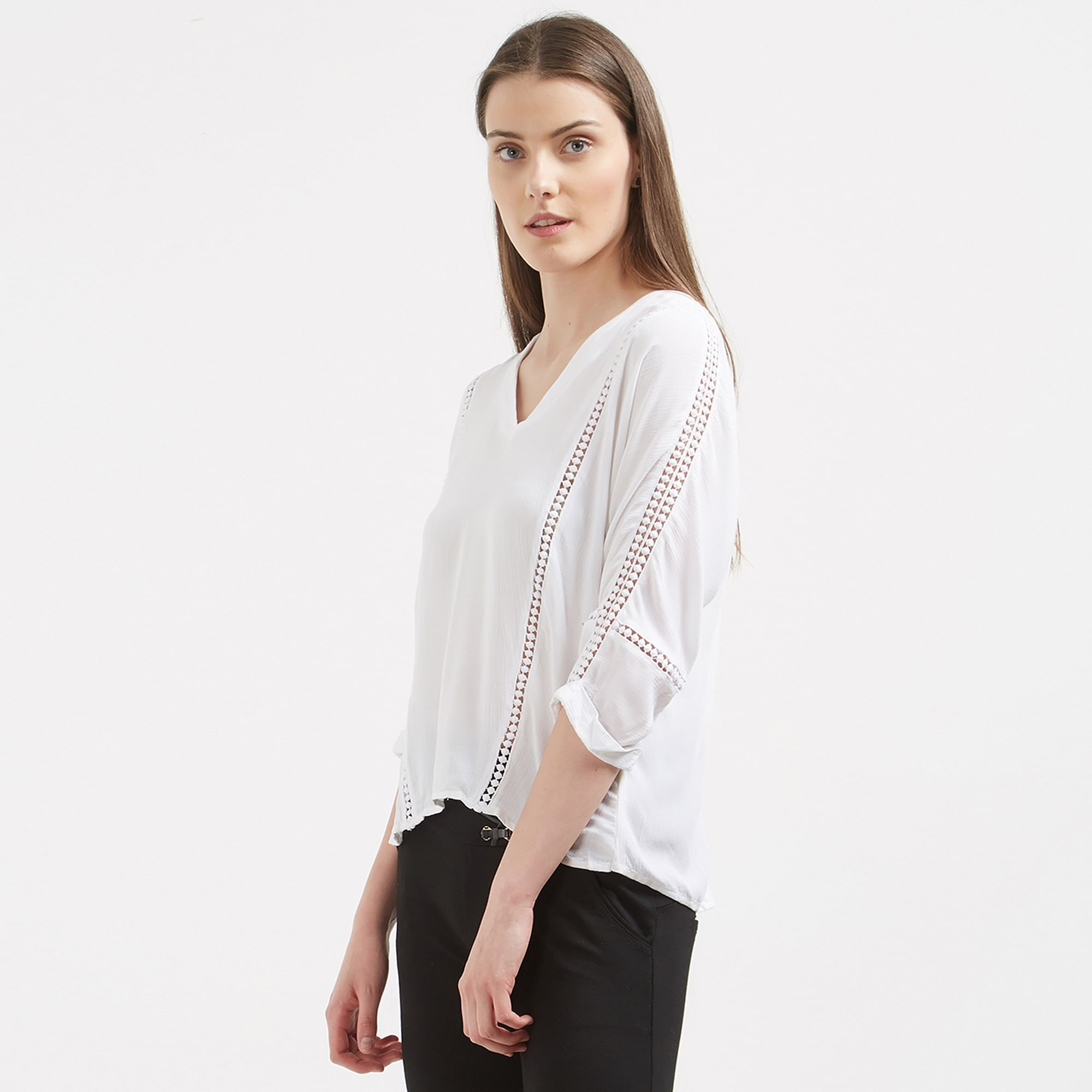 Charming White Colored Casual Wear Western Cotton Top