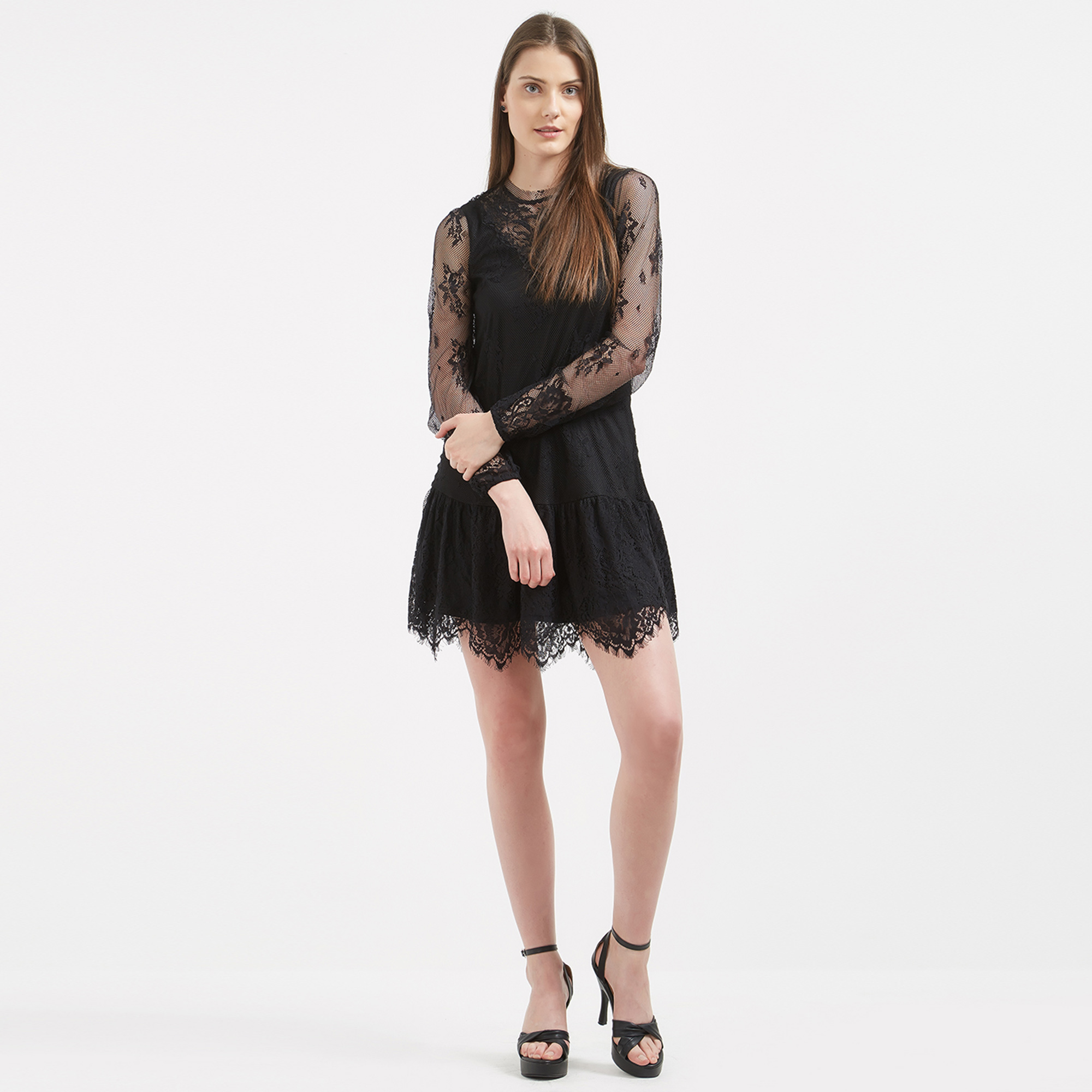 Image Of Black Many Wear Dress: Buy Bold Black Colored Casual Party Wear Western Dress For