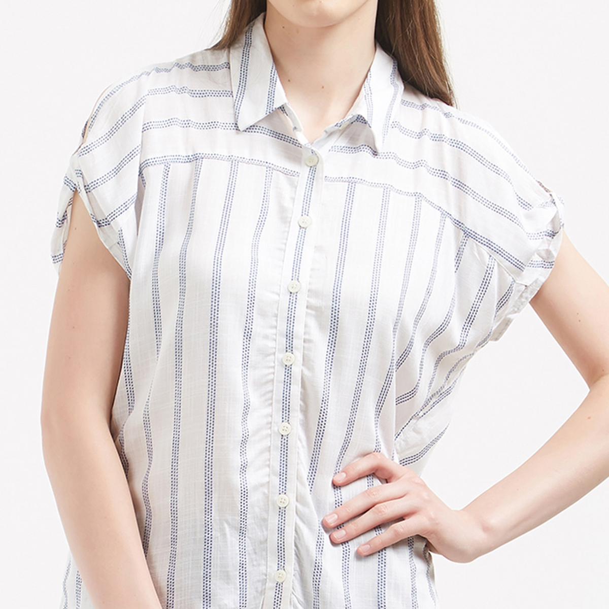 Gorgeous White Colored Casual Wear Western Cotton Shirt