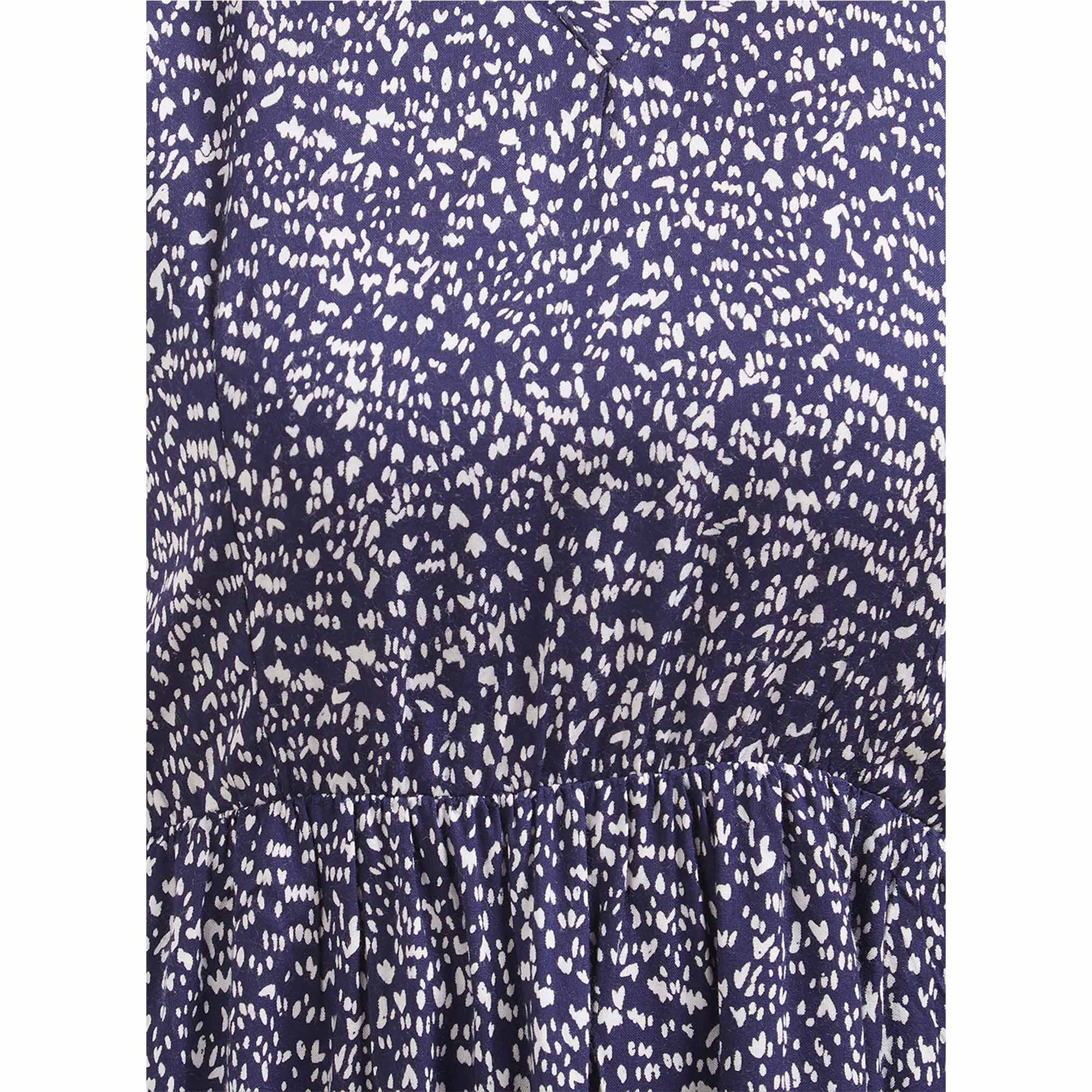 Blissful Blue Colored Casual Wear Western Cotton Dress