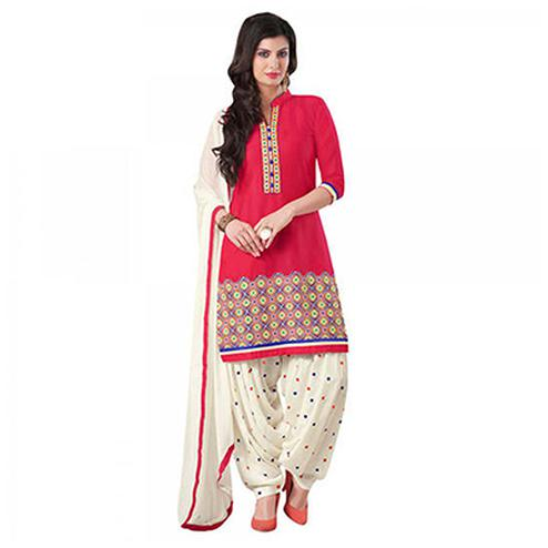 Pink Printed Patiala Suit