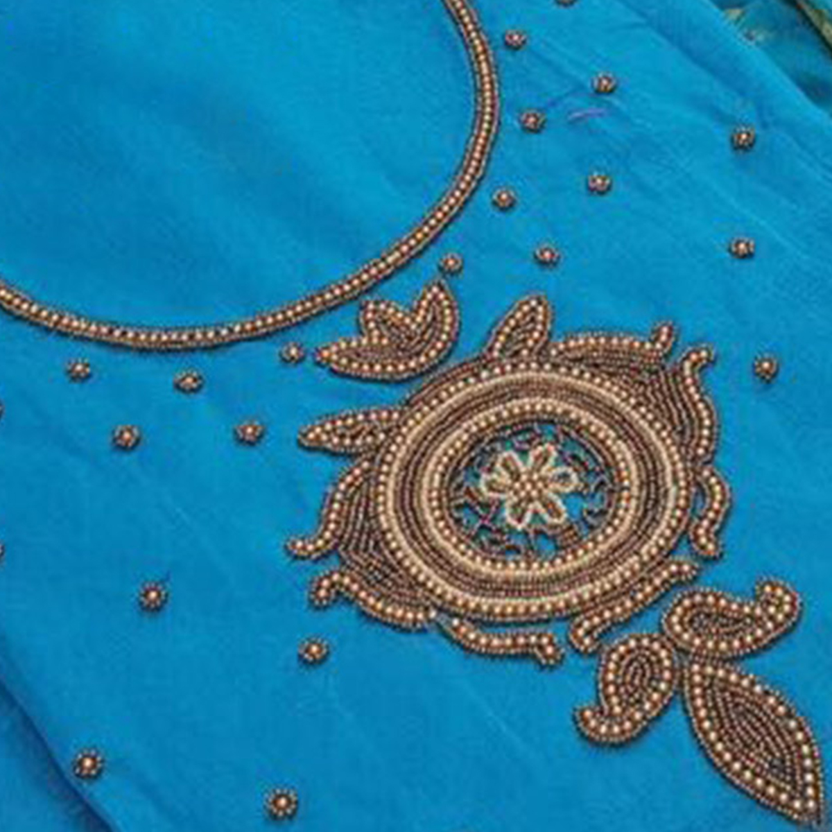 Eye-Catching Sky Blue Colored Embroidered Modal Dress Material
