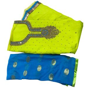 Lovely Green Colored Embroidered Modal Dress Material
