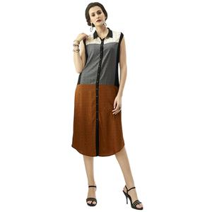 Excellent Multi Colored Casual Printed Rayon Kurti