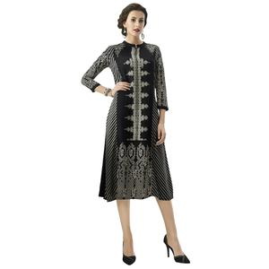 Flaunt Black Colored Casual Printed Rayon Kurti