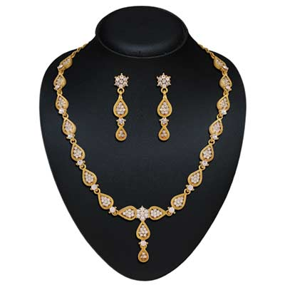 Micro gold plated australian stone necklace set