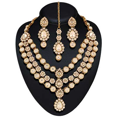 Austrian Diamond Necklace Zinc Jewel Set
