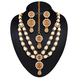 High gold plated partywear necklace set
