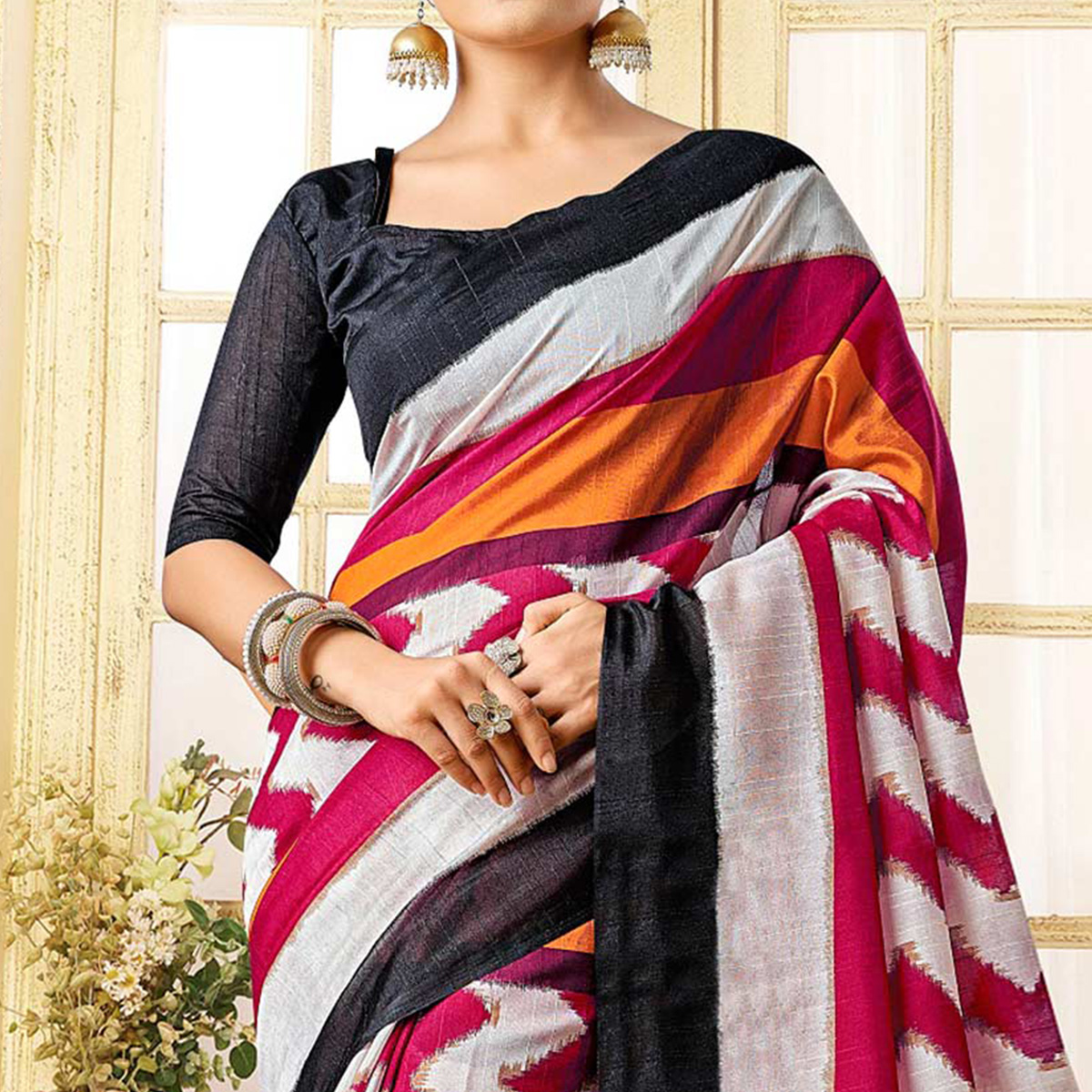 Multicolored Printed Casual Wear Saree
