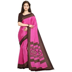 Jazzy Pink Colored Casual Printed Crepe Saree
