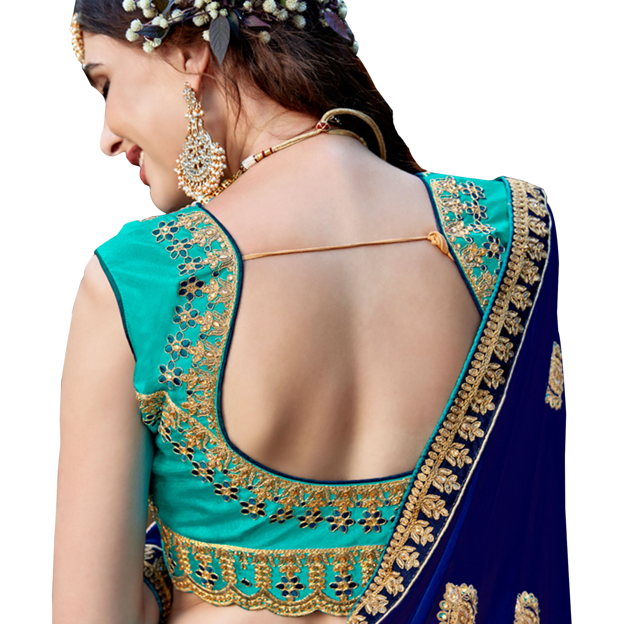 Refreshing Aqua Blue Colored Partywear Embroidered Heavy Silk Lehenga Choli