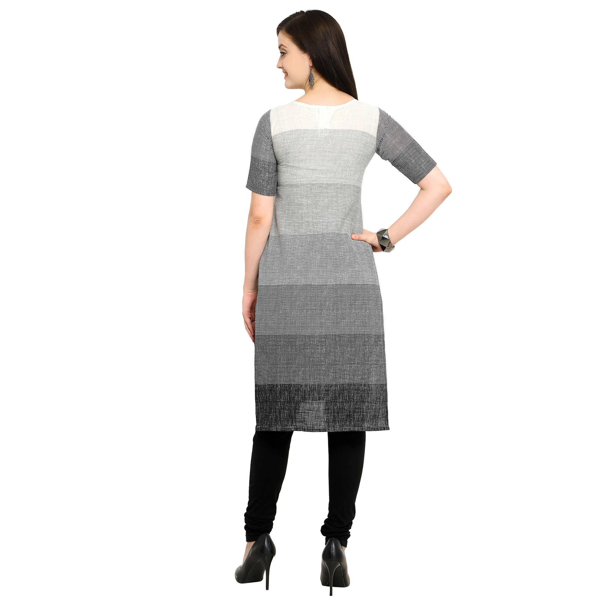 Gorgeous Gray Colored Casual Wear Cotton Kurti