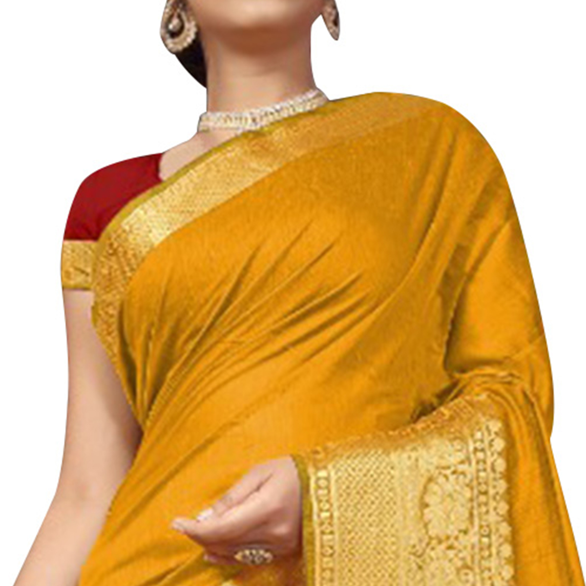 Traditional Yellow Colored Festive Wear Woven Cotton Silk Saree