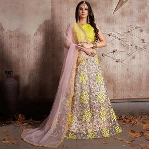 Extraordinary Baby Pink Color Party Wear Designer Embroidered Soft Net Lehenga Choli