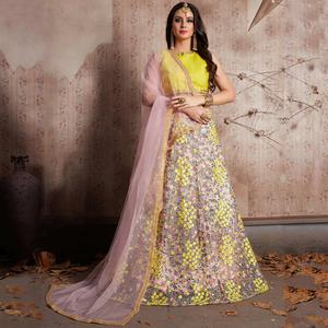 Extraordinary Baby Pink Color Party Wear Designer Embroidered Net Lehenga Choli