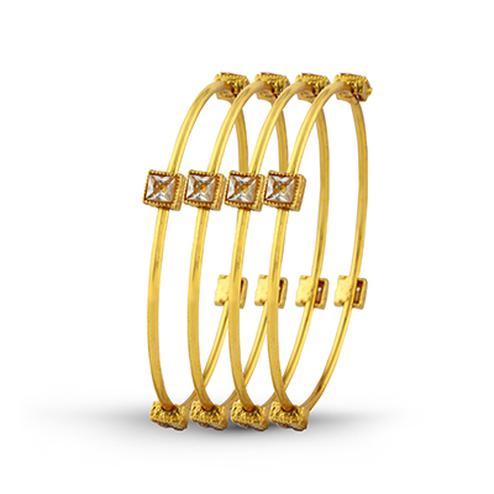 Stone & Gold Plated Ethnic Bangle