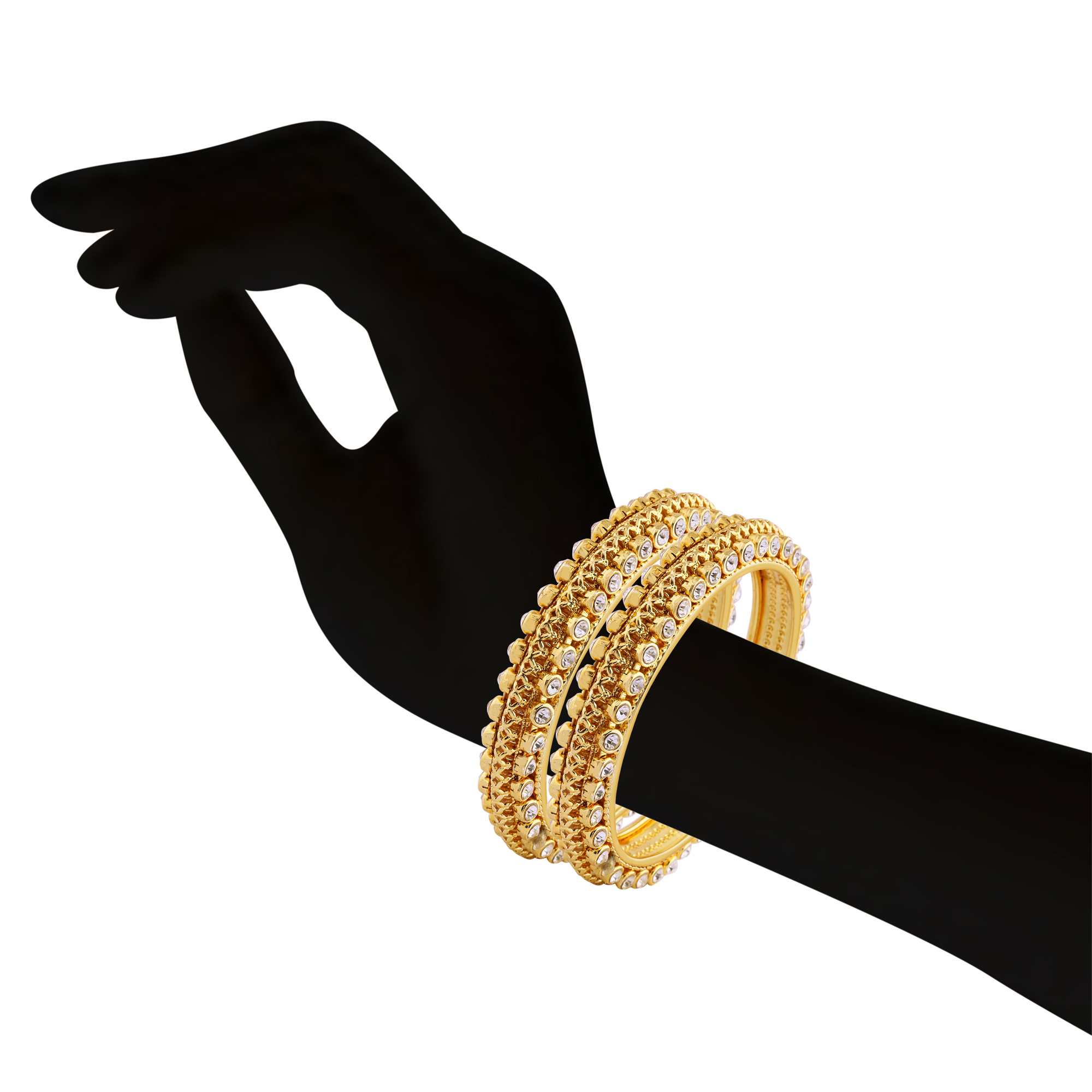 Gold Plated & Stone Traditional Bangle